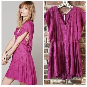 Free People oh clementine pink dress Sz XS